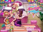 Барби и ее сестры на пижамной вечеринке