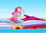 Барби на водном мотоцикле