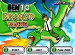 Бен 10 на огнедышащем драконе
