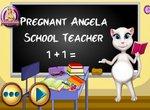 Беременная Анжела работает в школе