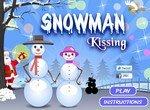 Снежный поцелуй снеговиков