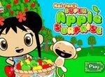 Кай-Лан и обезьнка Хохо собирают яблоки