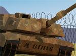 Парковка танка на военной базе