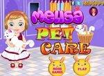 Мелиса ухаживает за котенком