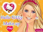 Сверкающий макияж от кошечки Китти