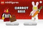 Лего человечек ловит морковку