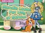 Блонди Локс и щенок собираются в школу