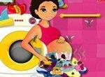 Беременные: Мама стирает одежду