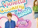 Виолетта готовит торт для Леона