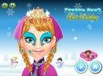 Рисуем на лице принцессы Анны