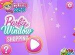 Помоги Барби украсить витрину