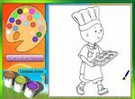 Раскраска: Каю готовит печеньки