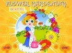 Работница в цветочном саду
