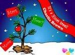 Снупи украшает новогоднюю елку