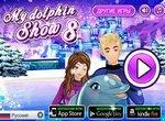 Выступление дельфинов зимой: Шоу 8