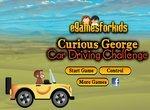 Любопытный Джордж за рулем машинки