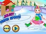 Зимний спорт для малышки Джульетты