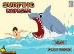 Опасный серфинг с акулами