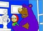 Разукрась Машу и Медведя