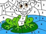 Раскрашиваем лягушонка и учим цифры