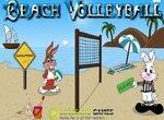 Играем в пляжный волейбол с кроликами