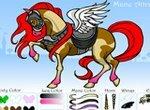 Раскраска: Волшебная лошадь