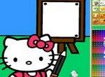 Хелло Китти рисует картину