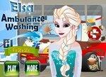 Автомойка: Эльза моет карету скорой помощи