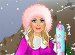 Барби на лыжах