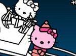 Раскраска:  Новогодние каникулы Хелло Китти