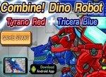 Динозавры трансформеры: Тираннозавр и Трицератопс
