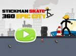 Стикмен на скейте в Эпическом городе