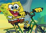 Спанч Боб на велосипеде