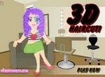Парикмахерская 3Д для девочек
