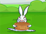 Кролик Банни собирает пасхальные яйца