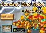 Дино робот Золотой стегозавр