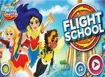 Девушки Супергерои в Школе полетов