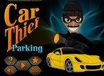 Воришка автомобилей на парковке