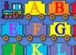 Веселый паровозик с английским алфавитом