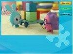 Пазл: Малышарики играют в кубики