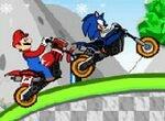Гонка Марио и Соника на мотоциклах