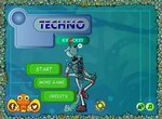 Робот играет в техно крокет
