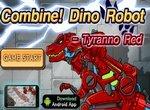 Дино робот: Собери красного тираннозавра