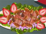 Куриный салат с фруктами
