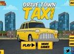 Водитель такси развозит людей по городу