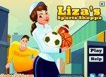 Лиза продает спорттовары