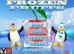Пингвиненок собирает замороженные фрукты