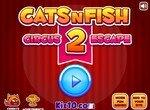 Кот циркач и рыбки 2