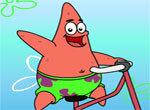 Патрик на велосипеде