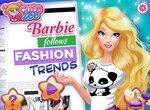 Барби подбирает одежду для показа мод